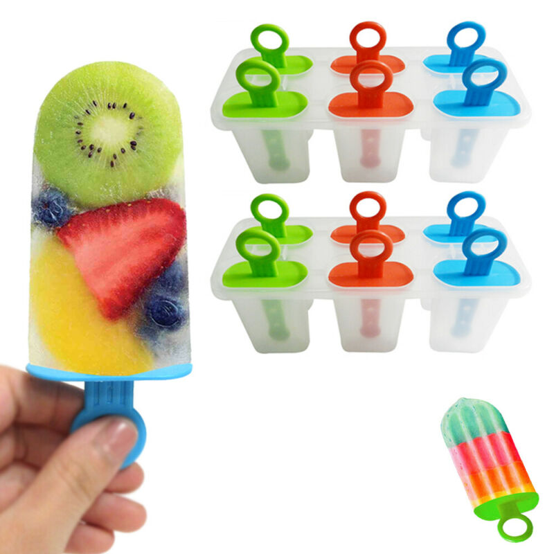 2 Pack Ice Pop Popsicle Mold Makers DIY Juice Bar Frozen Dessert Treats Kids Fun