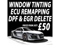 CAR WINDOW TINTING \ ECU REMAPPING \ DPF & EGR DELETE!