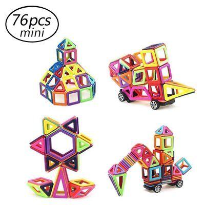 Stacking Construction Set Toy - Camande 76PCS Magnetic Building Block Set, Construction Stacking Toy (mini size)