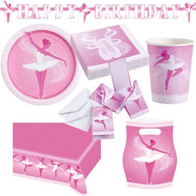 Ballett Ballerina Kindergeburtstag Auswahl Deko Party Dekoration Geburtstag NEU (Ballerina Dekoration Geburtstag Party)