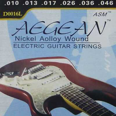 Lote Cuerdas de para Guitarra Electrica Nickelplated Steel Guitar Metal M01