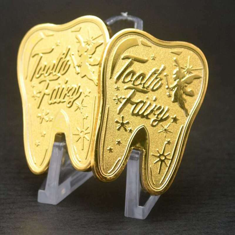 Tooth Fairy Money Gold Plated Commemorative Coin Creative Kids Tooth Change