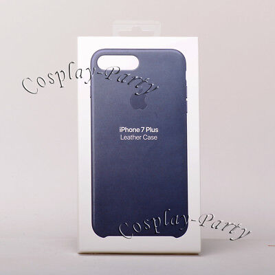 Genuine Original Apple iPhone 7 Plus iPhone 8 Plus Leather Case - Midnight Blue