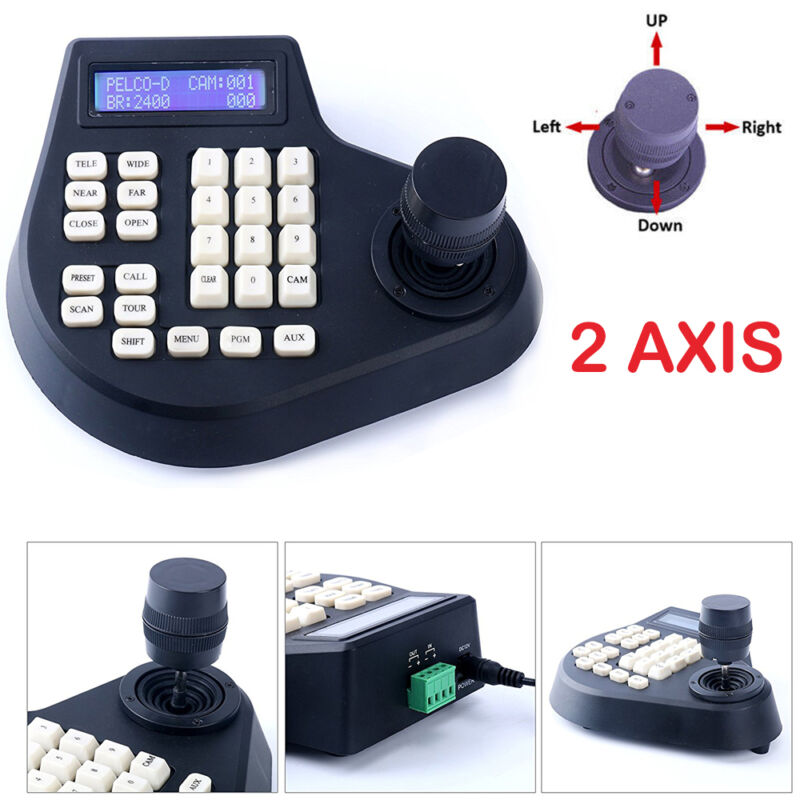 CCTV LCD Screen Display 2D joystick keyboard controller for PTZ Camera (2 Axis)