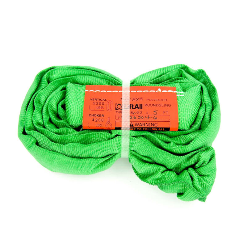 "Lift-All EN60X5 Type 5 5 ft. Endless Round Sling, 7/8"" Diameter, Green"