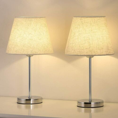 set of 2 small table lamp bedside