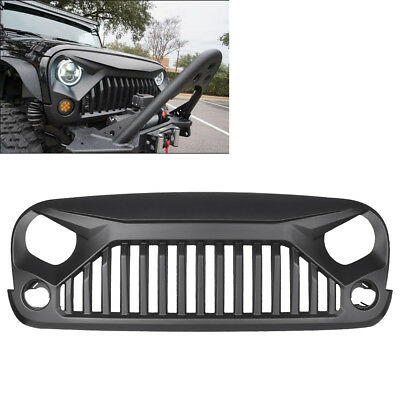 Front Angry Bird Gladiator Grille for Jeep Wrangler 2007-2017 JK&Unlimited Black