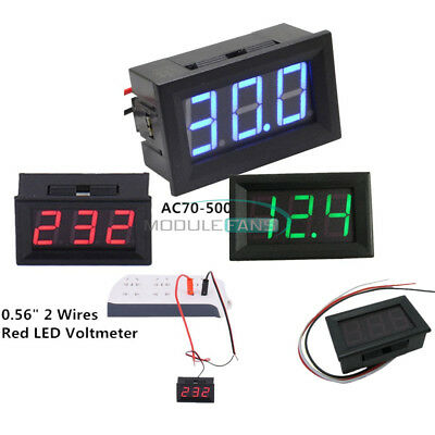 23wires 0.56 Dc 5v-30v120v Redgreenblue Led Digital Voltmeter Ac 70v-500v