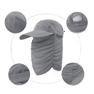 Fishing cap neck face flap mask cover uv sun protection for Fishing neck cover