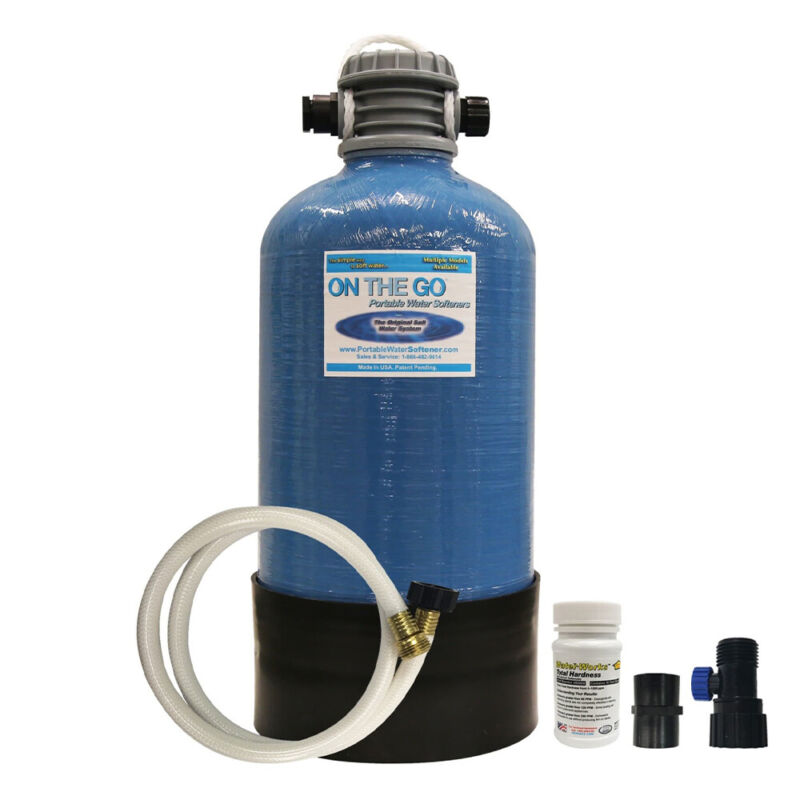 On The Go Large Portable Double Standard Water Softener, Blue (Open Box)