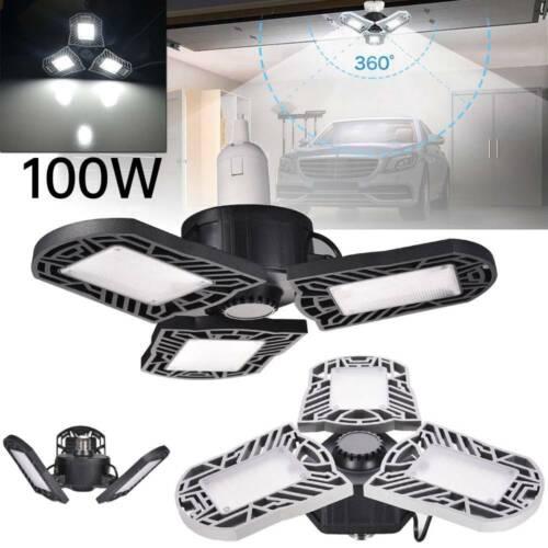 E27 LED Garage Light Bulb Deformable Ceiling Fixture Lights