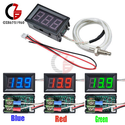 Digital Led Diaplay Thermometer K-type M6 Thermocouple Gauge -30c-800c