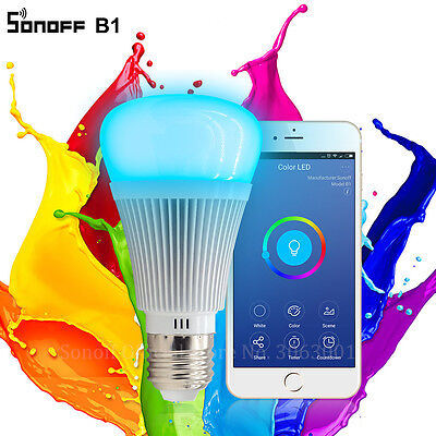 Sonoff B1 Led Bulb Dimmer Wifi Smart Light Remote Control Work With Alexa Google