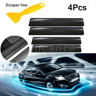 Car Parts - Carbon Fiber Vinyl Car Stickers Door Sill Protector For Auto Parts Accessories
