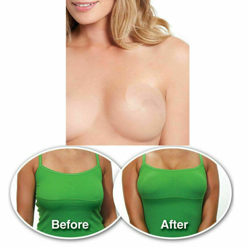 5PC Breast Lift Tape&Nipple Covers Shaping Invisible Clear Push Up Stick On Bra