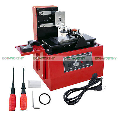 New Electric Pad Printer Printing Machine Sealed Ink Cup System Plate Pad Diy