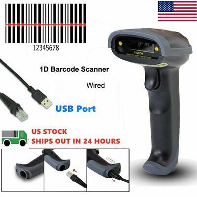 Portable Laser Barcode Scanner Gun Usb Cable Handheld Laser Pos Bar Code Reader