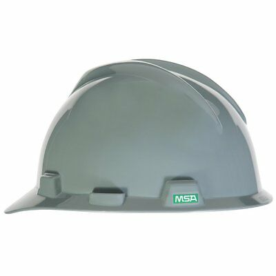 Msa Safety 475364 Grey V Gard Slotted Protective Cap W  Fas Trac Iii Suspension