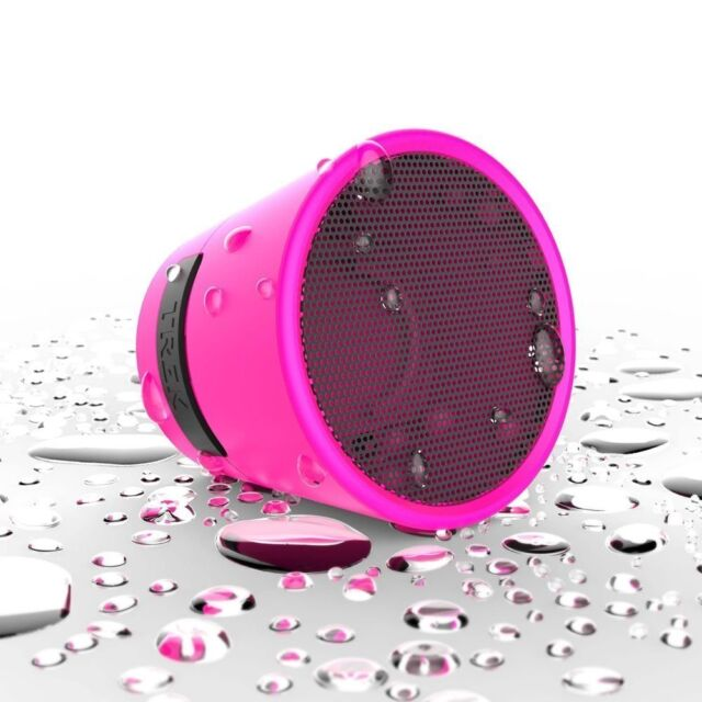 Wireless Bluetooth Travel Mini Portable IPX4 WaterProof Speaker Pink. TDK Trek