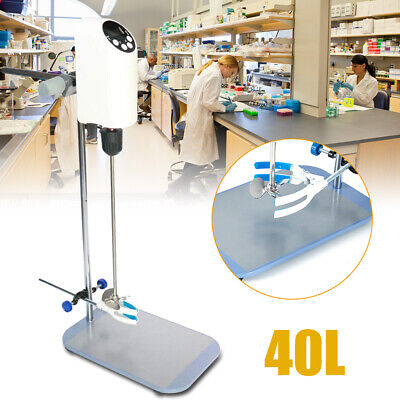 Lab Electric Mixer 40l Heavy Duty Digital Overhead Stirrer Agitator Adjustable