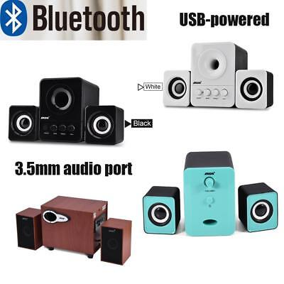 SADA USB Wireless Bluetooth Computer Speaker Subwoofer 3.5mm for Desktop