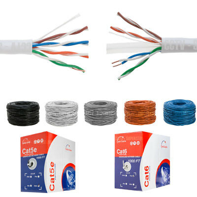 CAT5E CAT6 Cable 1000FT UTP Solid Network Ethernet CAT5 Bulk Wire RJ45 Lan Cat5e Solid Utp Network Cable