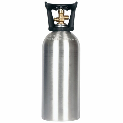 10 lb. New Aluminum CO2 Cylinder CGA320 & Handle - DOT Approved - Hydro Tested