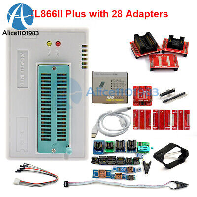 Tl866ii Plus V9.16 Full Adapter Sop8 Ic Clip High Speed Flash Eprom Programmer