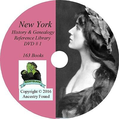NEW YORK - History & Genealogy - 163 Books on DVD - Ancestors, County, CD, NY