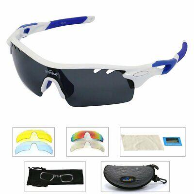 Herren Fahrrad Sport Angeln Brillen Sonnenbrille 5 Objektiv Ersetzt Brille DE