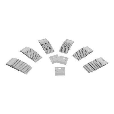 500pc 2 X 2 Grey Plastic Earring Card Display Hang Jewelry Plain Cards Retail