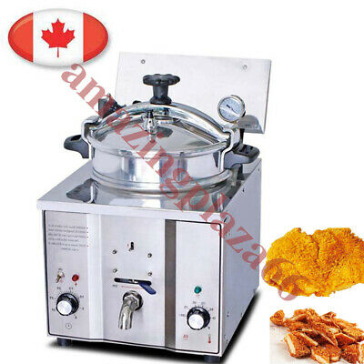 Ca Seller Commercial Electric Countertop Pressure Fryer 16l Steel Chicken Fish
