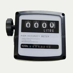 4 digital Diesel Fuel Oil Flow Meter Counter 3.5 bar High Accuracy 1%