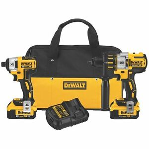 DEWALT 20V Li-Ion 4.0 Ah Brushless Hammer Drill and Impact Driver Kit - Free Shipping