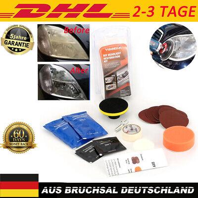 Auto Universal Scheinwerfer Politur Aufbereitung Reparatur Polier Set Scheinwerf