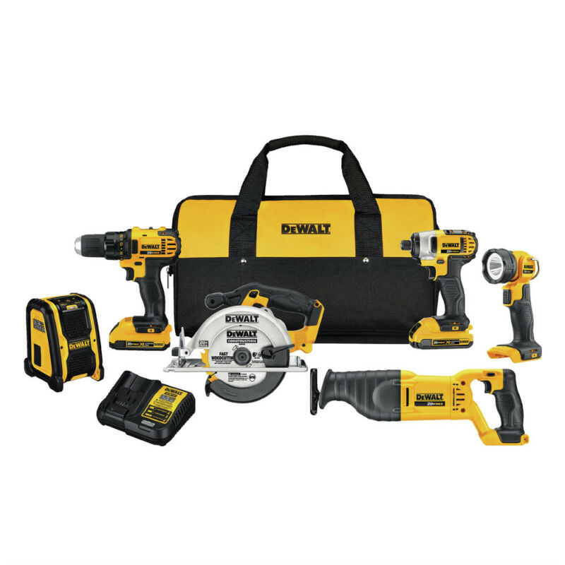 DeWalt Compact 6-Tool Combo Kit DCK620D2R Reconditioned