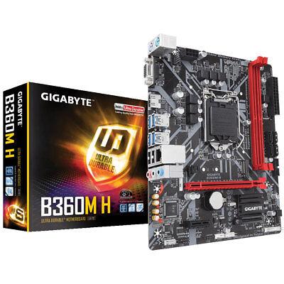 Gigabyte GA-B360M-H Mainboard Sockel 1151 (Mikro-ATX, Intel DDR4, SATA)