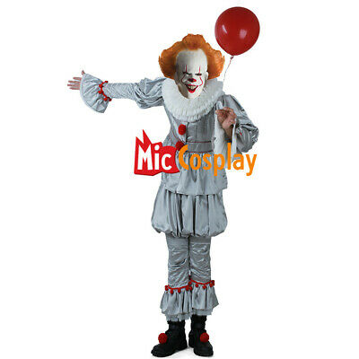 Pennywise Men Cosplay Costume the Dancing Clown Costume for Halloween - Halloween Costumes For Males