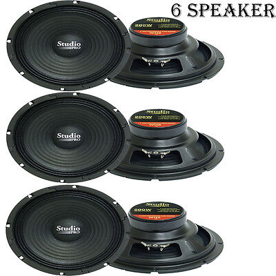 LOT OF (6) Pyramid WH8 8-Inch 200 Watt High Power Paper Cone 8 Ohm Subwoofer High Power Paper Cone