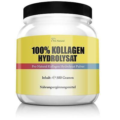 Pro Natural Kollagen Hydrolysat Pulver 500g gut für Haut Gelenke & Knorpel