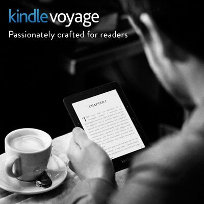 "Amazon Kindle Voyage E-Reader 7th Generation 4GB Wi-Fi 6"" Black"