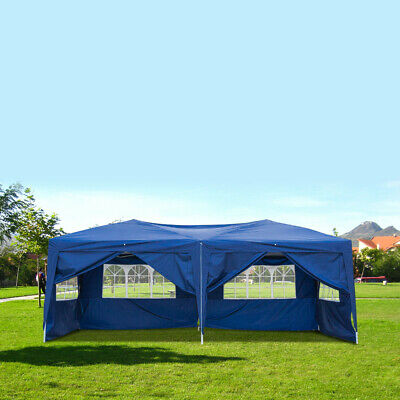 10'x20' Garden EZ Pop Up Gazebo Marquee Party Tent Wedding Canopy Carry Bag -