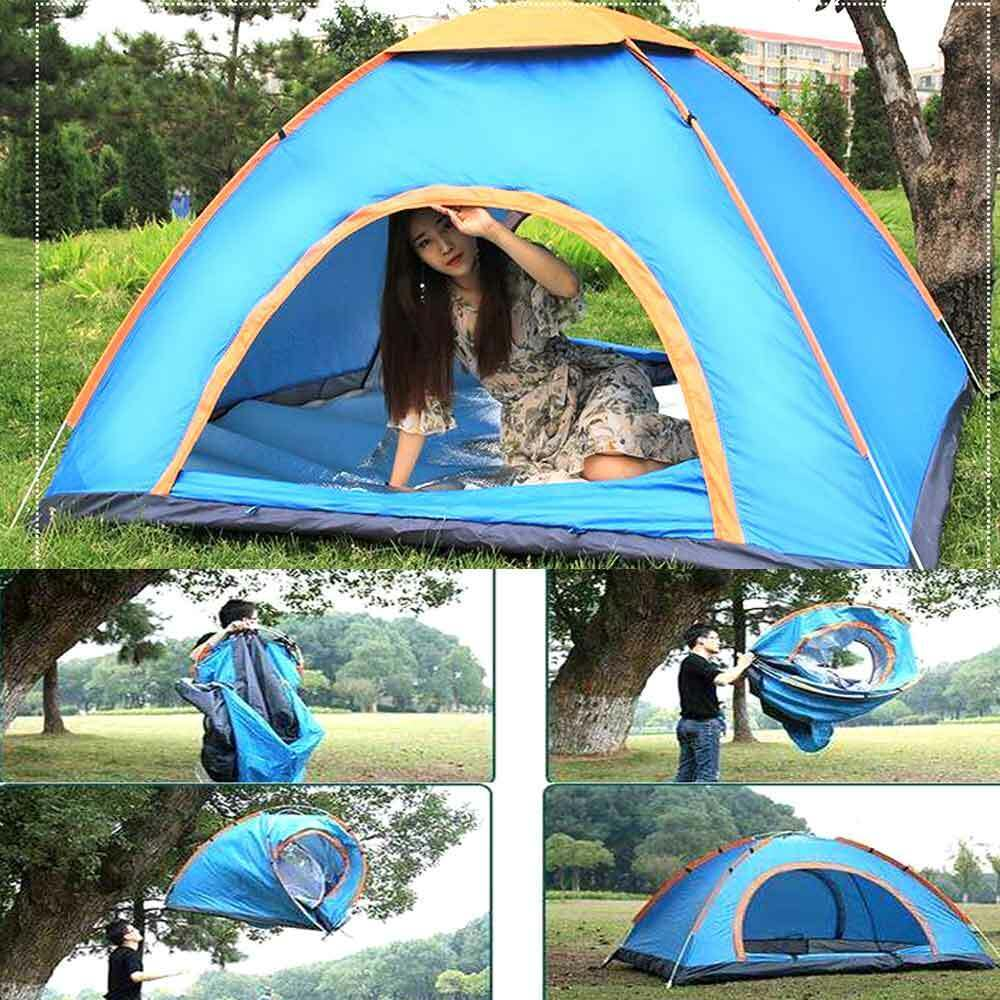 Outdoor Double layer Instant Pop Up Tent 34 Person Portable Camping Cabin Tent