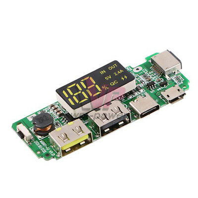 Qc Usb 5v Lithium 18650 Battery Charger Module Step-up Boost Power Supply Board