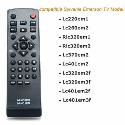 New Emerson Sylvania TV Replacement Remote Control  NH000UD LC220EM1 LC260EM2 (Emerson Tvs)