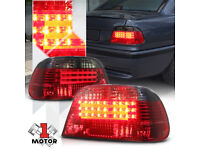Red black smoked finish LED tail rear lights for BMW 7 sereis E38 98-01