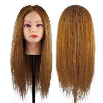 Cosmetology Training 100  Real Human Hair Head Mannequin Hairdressing Doll Clamp