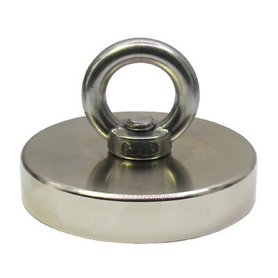 1000 Lbs Pull Force Hippo Fishing Magnet Strong Neodymium Round Heavy Duty