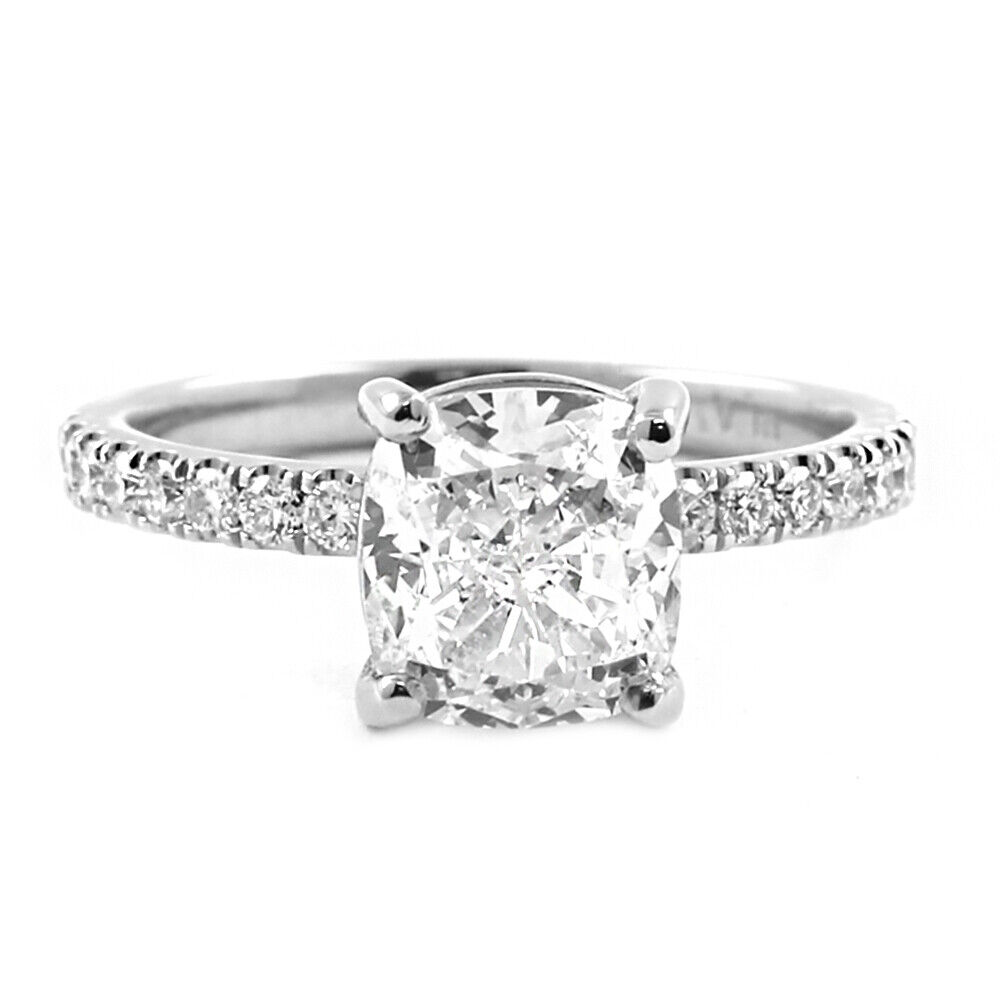 1.50Ct. Natural Cushion Cut Diamond Engagement Ring 18k White Gold GIA Certified