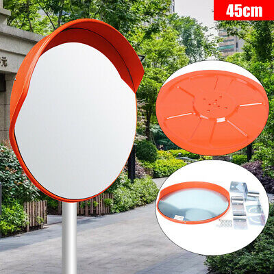 18 Wide Angle Security Convex Pc Mirror Outdoor Road Traffic Driveway Safety